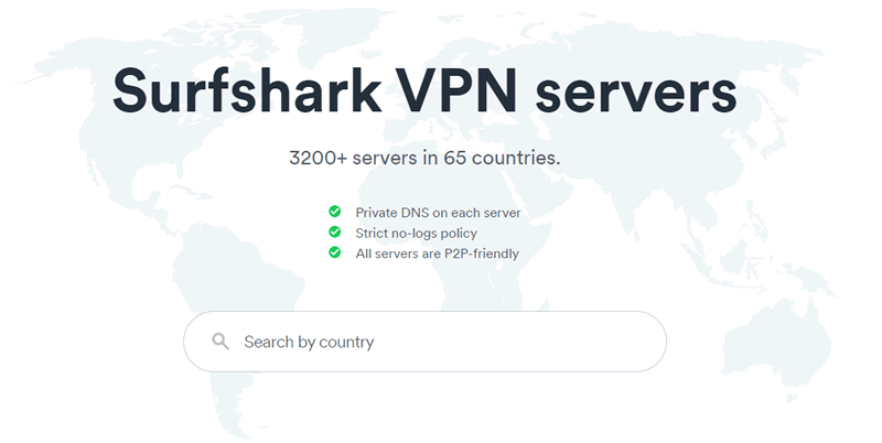 Surfshark VPN Servers